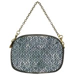 HEXAGON1 BLACK MARBLE & ICE CRYSTALS Chain Purses (Two Sides)