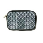 HEXAGON1 BLACK MARBLE & ICE CRYSTALS Coin Purse