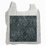 HEXAGON1 BLACK MARBLE & ICE CRYSTALS Recycle Bag (One Side)