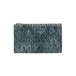 HEXAGON1 BLACK MARBLE & ICE CRYSTALS Cosmetic Bag (Small)