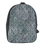 HEXAGON1 BLACK MARBLE & ICE CRYSTALS School Bag (Large)