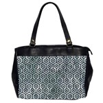 HEXAGON1 BLACK MARBLE & ICE CRYSTALS Office Handbags (2 Sides)