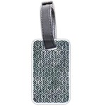 HEXAGON1 BLACK MARBLE & ICE CRYSTALS Luggage Tags (Two Sides)