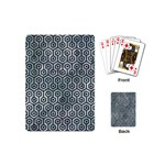 HEXAGON1 BLACK MARBLE & ICE CRYSTALS Playing Cards (Mini)