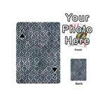 HEXAGON1 BLACK MARBLE & ICE CRYSTALS Playing Cards 54 (Mini)