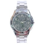 HEXAGON1 BLACK MARBLE & ICE CRYSTALS Stainless Steel Analogue Watch
