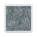 HEXAGON1 BLACK MARBLE & ICE CRYSTALS Memory Card Reader (Square)