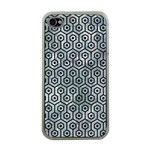 HEXAGON1 BLACK MARBLE & ICE CRYSTALS Apple iPhone 4 Case (Clear)