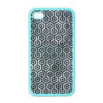 HEXAGON1 BLACK MARBLE & ICE CRYSTALS Apple iPhone 4 Case (Color)