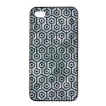 HEXAGON1 BLACK MARBLE & ICE CRYSTALS Apple iPhone 4/4s Seamless Case (Black)