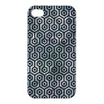 HEXAGON1 BLACK MARBLE & ICE CRYSTALS Apple iPhone 4/4S Hardshell Case