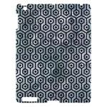 HEXAGON1 BLACK MARBLE & ICE CRYSTALS Apple iPad 3/4 Hardshell Case