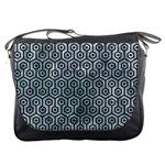 HEXAGON1 BLACK MARBLE & ICE CRYSTALS Messenger Bags