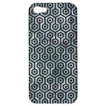HEXAGON1 BLACK MARBLE & ICE CRYSTALS Apple iPhone 5 Hardshell Case