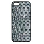 HEXAGON1 BLACK MARBLE & ICE CRYSTALS Apple iPhone 5 Seamless Case (Black)