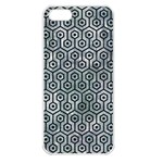 HEXAGON1 BLACK MARBLE & ICE CRYSTALS Apple iPhone 5 Seamless Case (White)