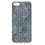 HEXAGON1 BLACK MARBLE & ICE CRYSTALS Apple Seamless iPhone 5 Case (Clear)