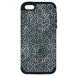 HEXAGON1 BLACK MARBLE & ICE CRYSTALS Apple iPhone 5 Hardshell Case (PC+Silicone)