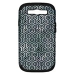 HEXAGON1 BLACK MARBLE & ICE CRYSTALS Samsung Galaxy S III Hardshell Case (PC+Silicone)