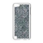 HEXAGON1 BLACK MARBLE & ICE CRYSTALS Apple iPod Touch 5 Case (White)