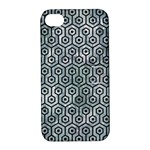 HEXAGON1 BLACK MARBLE & ICE CRYSTALS Apple iPhone 4/4S Hardshell Case with Stand