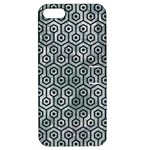 HEXAGON1 BLACK MARBLE & ICE CRYSTALS Apple iPhone 5 Hardshell Case with Stand
