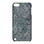 HEXAGON1 BLACK MARBLE & ICE CRYSTALS Apple iPod Touch 5 Hardshell Case with Stand