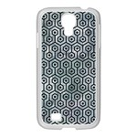 HEXAGON1 BLACK MARBLE & ICE CRYSTALS Samsung GALAXY S4 I9500/ I9505 Case (White)