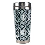HEXAGON1 BLACK MARBLE & ICE CRYSTALS Stainless Steel Travel Tumblers