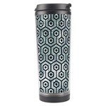 HEXAGON1 BLACK MARBLE & ICE CRYSTALS Travel Tumbler