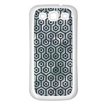 HEXAGON1 BLACK MARBLE & ICE CRYSTALS Samsung Galaxy S3 Back Case (White)