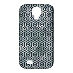 HEXAGON1 BLACK MARBLE & ICE CRYSTALS Samsung Galaxy S4 Classic Hardshell Case (PC+Silicone)
