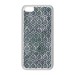 HEXAGON1 BLACK MARBLE & ICE CRYSTALS Apple iPhone 5C Seamless Case (White)
