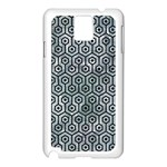 HEXAGON1 BLACK MARBLE & ICE CRYSTALS Samsung Galaxy Note 3 N9005 Case (White)