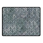 HEXAGON1 BLACK MARBLE & ICE CRYSTALS Double Sided Fleece Blanket (Small)
