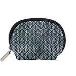 HEXAGON1 BLACK MARBLE & ICE CRYSTALS Accessory Pouches (Small)