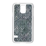 HEXAGON1 BLACK MARBLE & ICE CRYSTALS Samsung Galaxy S5 Case (White)