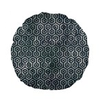 HEXAGON1 BLACK MARBLE & ICE CRYSTALS Standard 15  Premium Flano Round Cushions