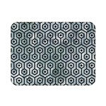 HEXAGON1 BLACK MARBLE & ICE CRYSTALS Double Sided Flano Blanket (Mini)