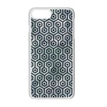 HEXAGON1 BLACK MARBLE & ICE CRYSTALS Apple iPhone 7 Plus Seamless Case (White)
