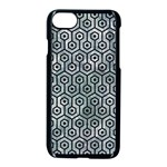 HEXAGON1 BLACK MARBLE & ICE CRYSTALS Apple iPhone 7 Seamless Case (Black)
