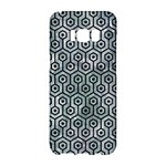 HEXAGON1 BLACK MARBLE & ICE CRYSTALS Samsung Galaxy S8 Hardshell Case