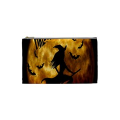 Halloween Wicked Witch Bat Moon Night Cosmetic Bag (small)  by Alisyart