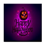 Happy Ghost Halloween Tile Coasters