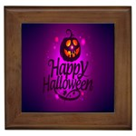 Happy Ghost Halloween Framed Tiles