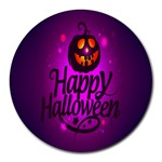 Happy Ghost Halloween Round Mousepads