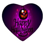 Happy Ghost Halloween Ornament (Heart)