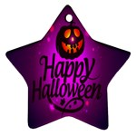 Happy Ghost Halloween Ornament (Star)