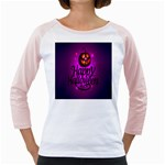 Happy Ghost Halloween Girly Raglans