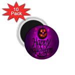 Happy Ghost Halloween 1.75  Magnets (10 pack)